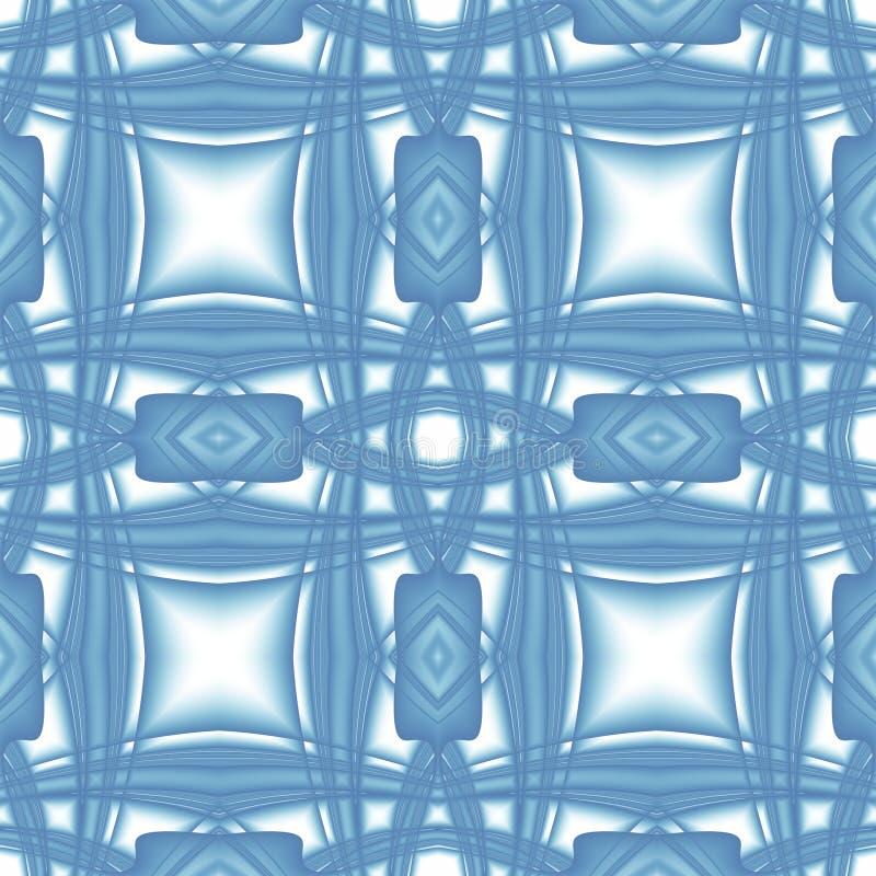 Struttura astratta moderna bianca blu Illustrazione elegante del fondo Mattonelle senza cuciture quadrate Modello della stampa de royalty illustrazione gratis