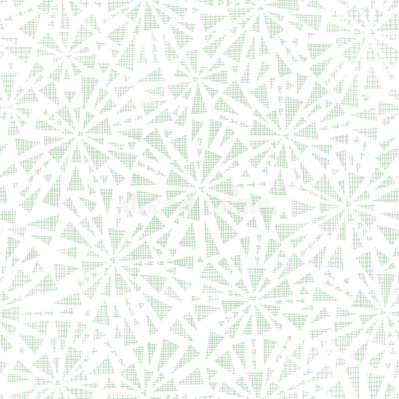 Struttura astratta verde del tessuto dei triangoli senza cuciture illustrazione vettoriale