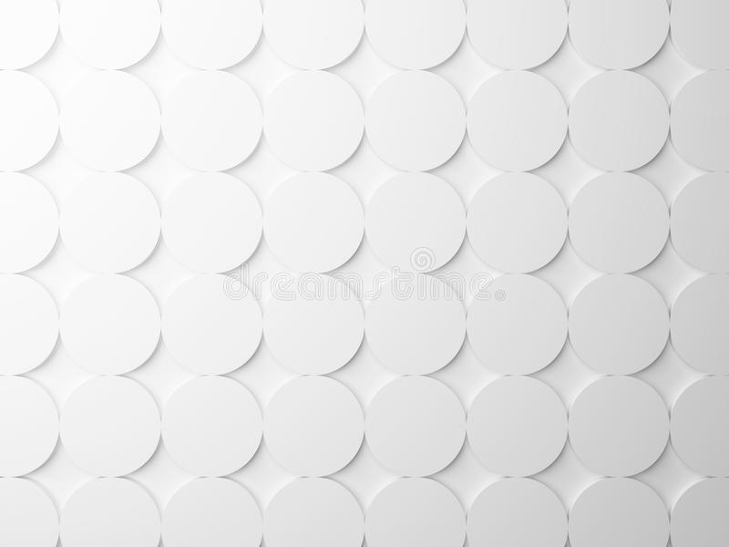Struttura bianca astratta con gli elementi rotondi fotografie stock