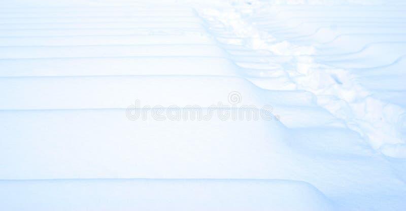 Struttura bianca blu della neve di inverno fotografia stock