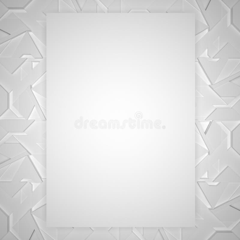 Struttura bianca decorativa con lo spazio della copia royalty illustrazione gratis