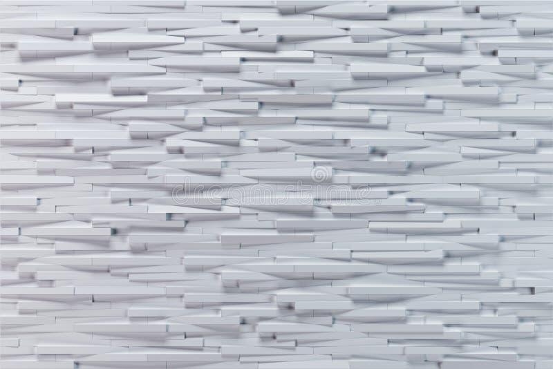 Struttura bianca del fondo dell'estratto 3d con la sporgenza orizzontale illustrazione di stock