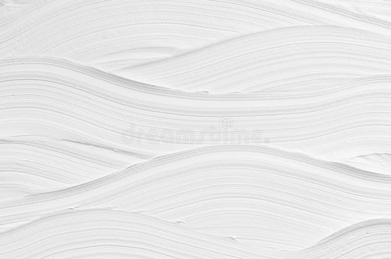 Struttura bianca del gesso dell'onda Fondo astratto moderno leggero fotografie stock
