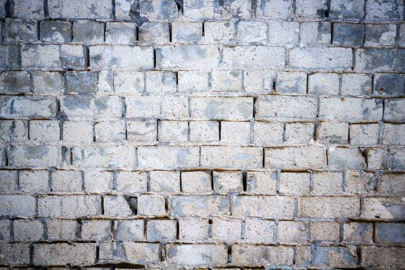 Struttura bianca del muro di mattoni fotografia stock libera da diritti
