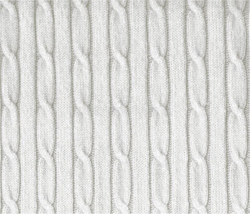 Struttura bianca lavorata a maglia fotografia stock libera da diritti