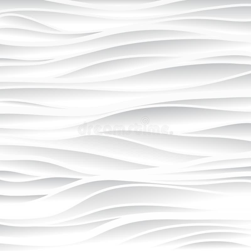 struttura bianca Priorità bassa ondulata Decorazione della parete interna Vettore royalty illustrazione gratis