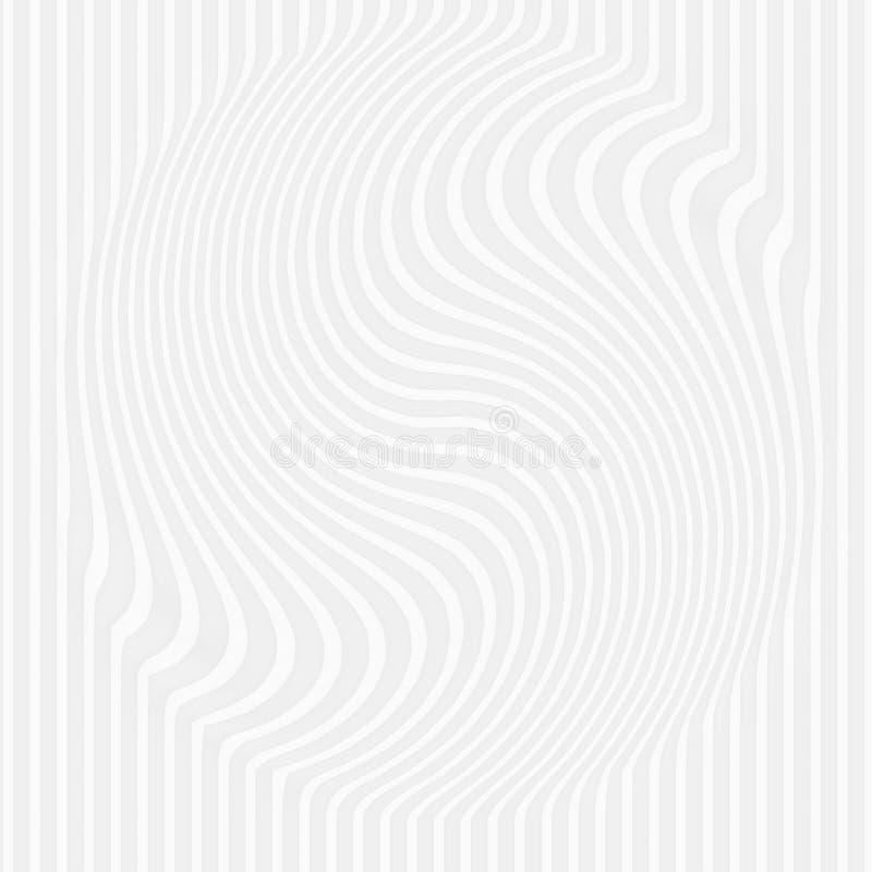 struttura bianca Reticolo astratto senza giunte giri la linea geo della natura illustrazione di stock