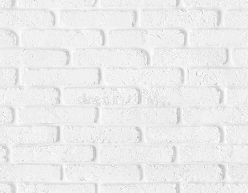 Struttura bianca senza cuciture del muro di mattoni fotografia stock libera da diritti