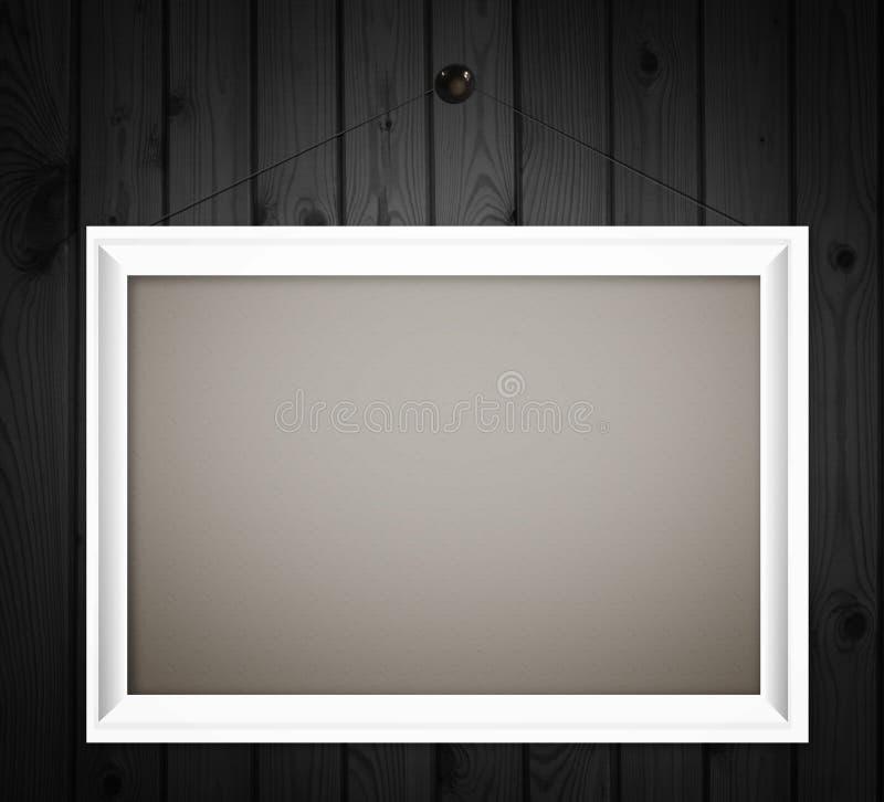Struttura bianca sul fondo di legno scuro della parete immagine stock libera da diritti