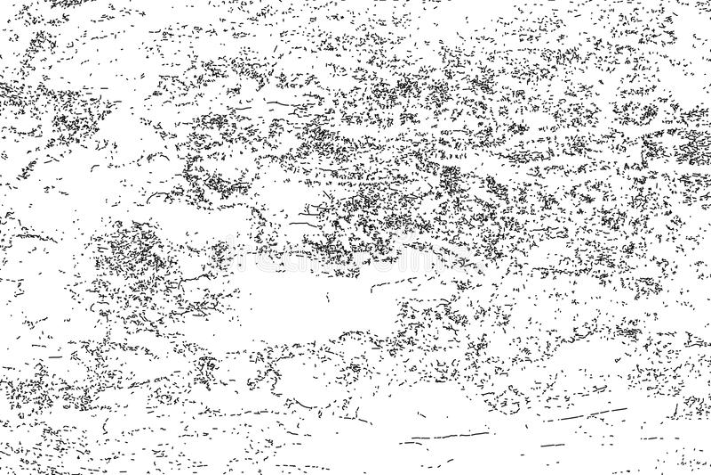 Struttura in bianco e nero afflitta di vettore di lerciume di semitono - vecchio fondo di legno di struttura della corteccia con  illustrazione di stock