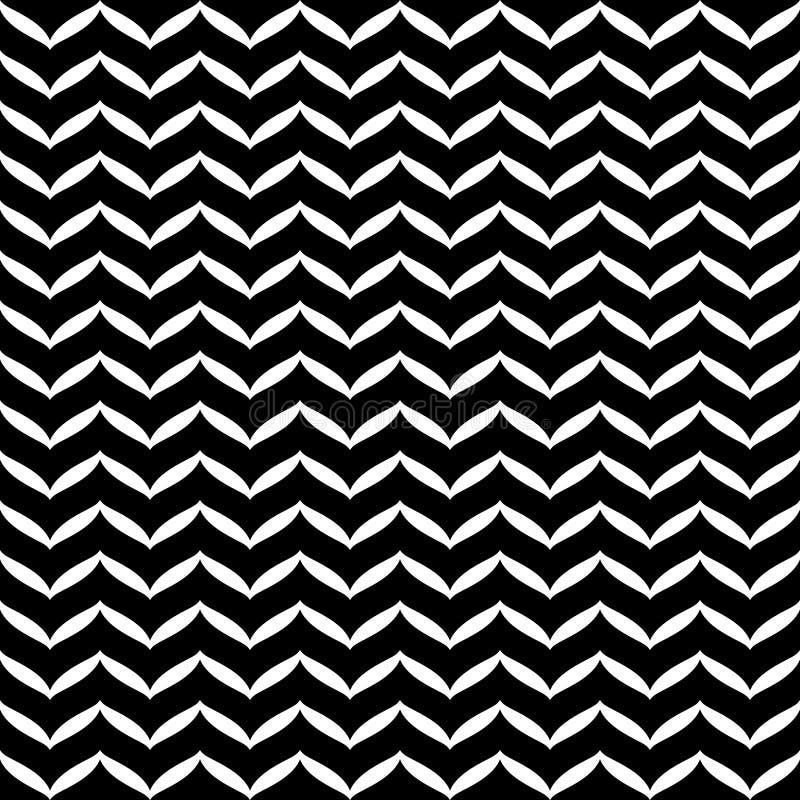 Struttura in bianco e nero senza cuciture geometrica Fondo monocromatico del modello di carta da imballaggio Stampa grafica sempl illustrazione vettoriale