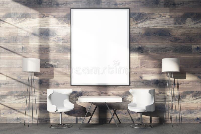 Struttura in bianco enorme su legno royalty illustrazione gratis