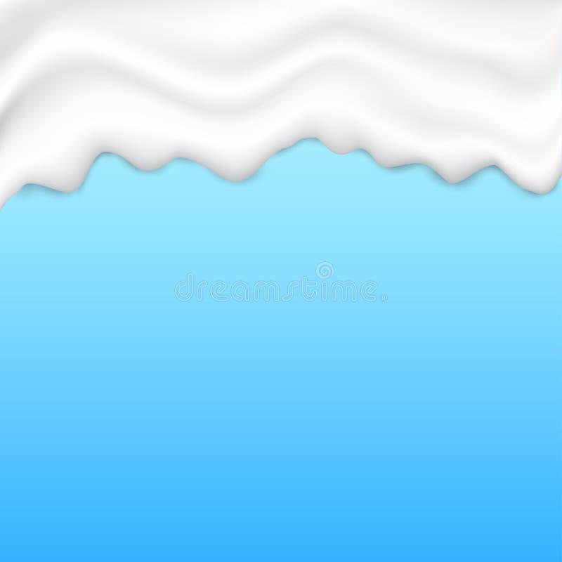 Struttura bianco panna liquida illustrazione vettoriale