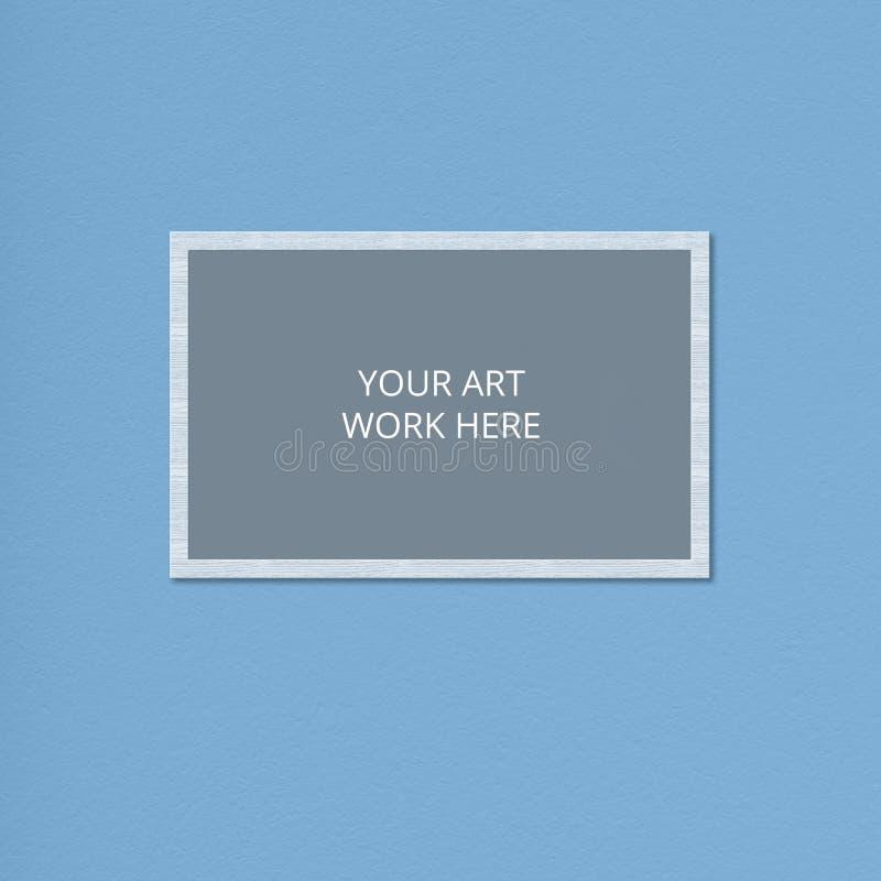 Struttura in bianco per il vostro materiale illustrativo o capolavoro contro fondo blu Spazio vuoto Struttura del modello Colpo o immagine stock libera da diritti