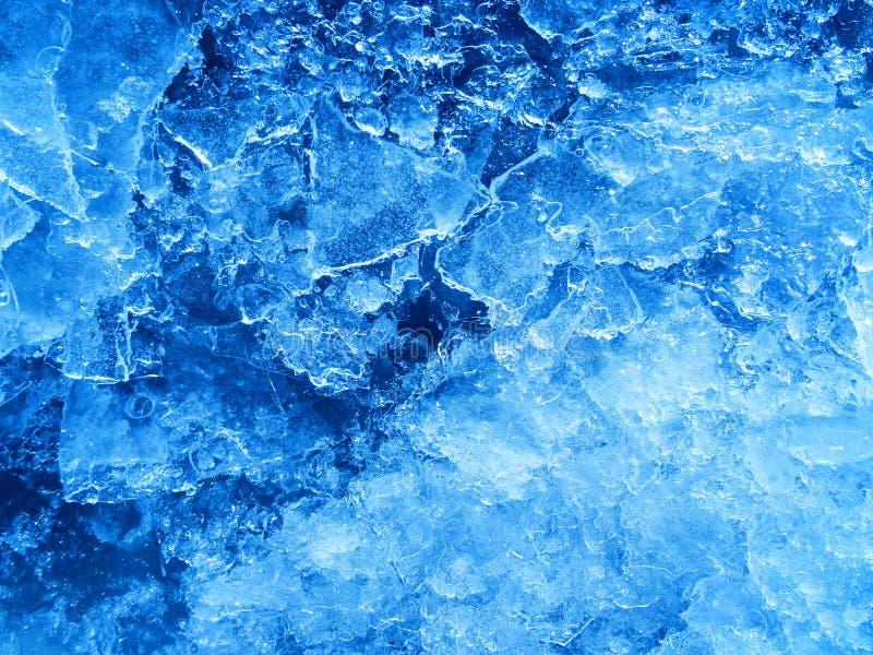 Struttura blu astratta del ghiaccio fotografie stock