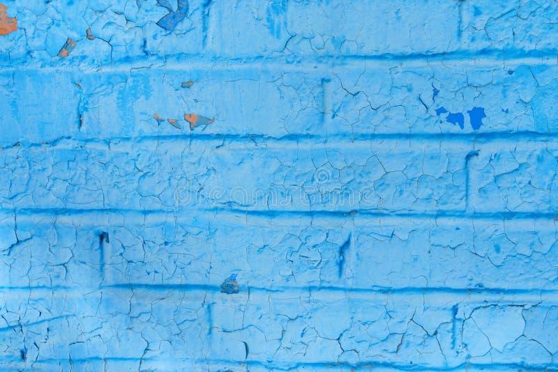 Struttura blu-chiaro di vecchio frammento d'annata urbano del muro di mattoni immagini stock