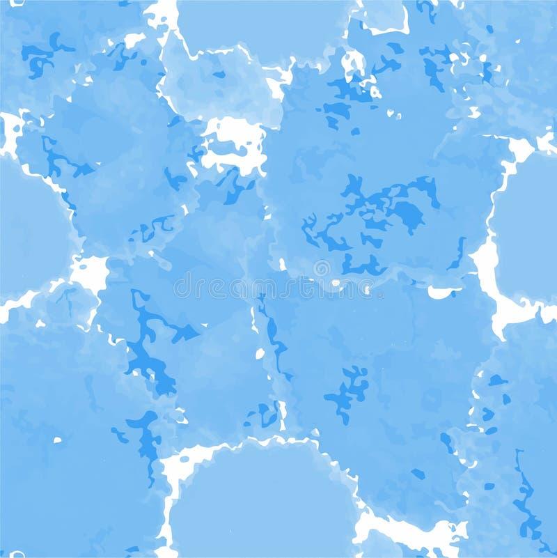 Struttura blu-chiaro Fondo murble di vettore Illustrazione di marmorizzazione disegnata a mano dell'acquerello royalty illustrazione gratis