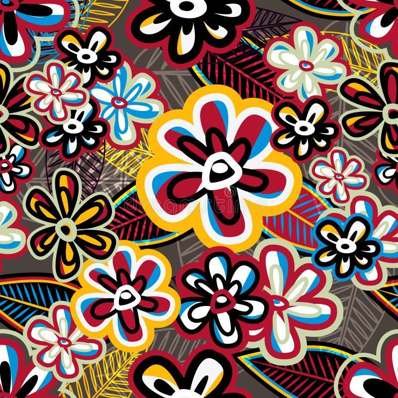 Struttura blu con i fiori royalty illustrazione gratis