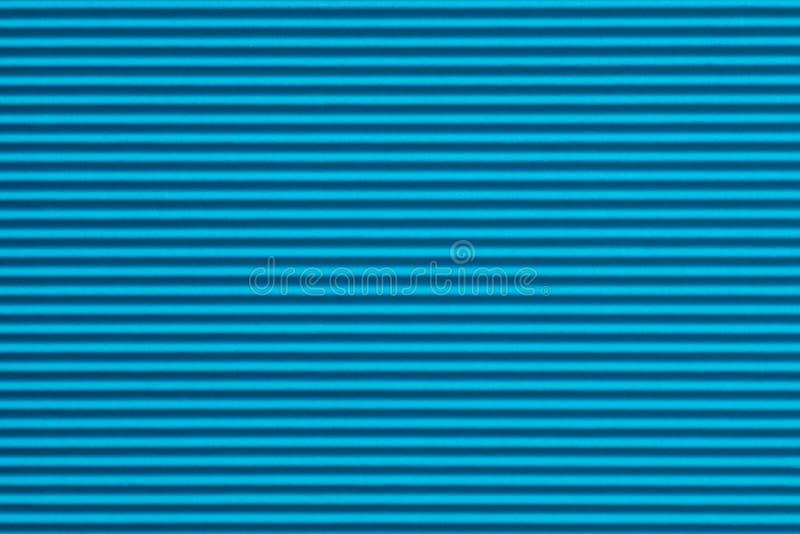 Struttura blu del fondo della carta ondulata immagine stock