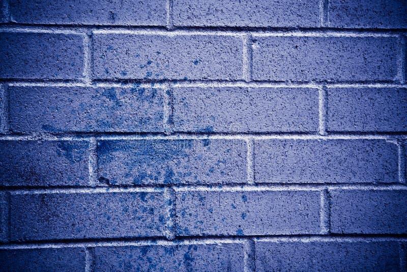 Struttura blu del muro di mattoni fotografia stock