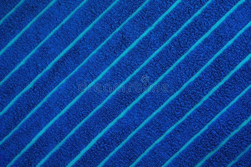 Struttura blu dell'asciugamano di spiaggia immagine stock