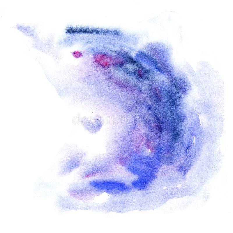 Struttura blu dell'estratto dell'acquerello, macchia blu illustrazione di stock