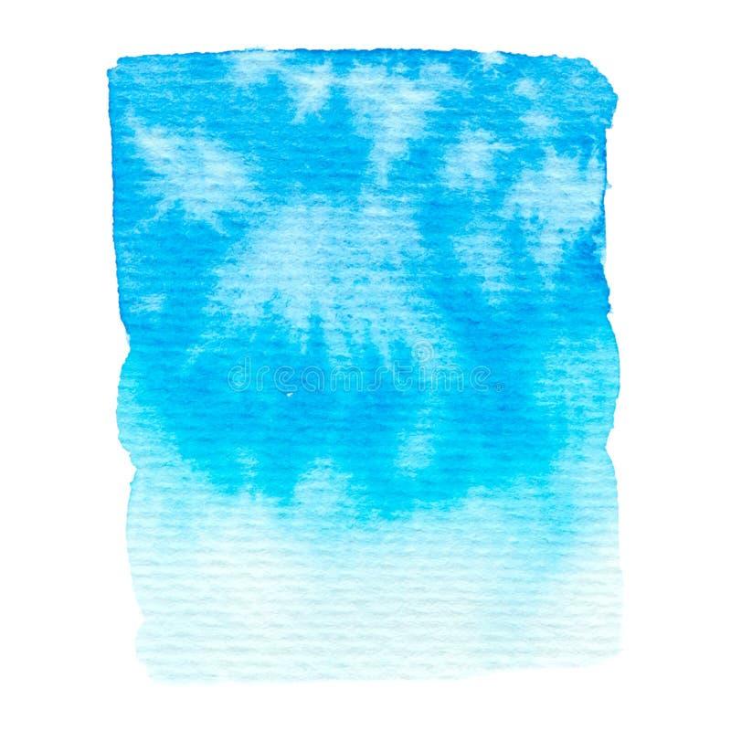 Struttura blu della pittura di vettore isolata su bianco illustrazione di stock
