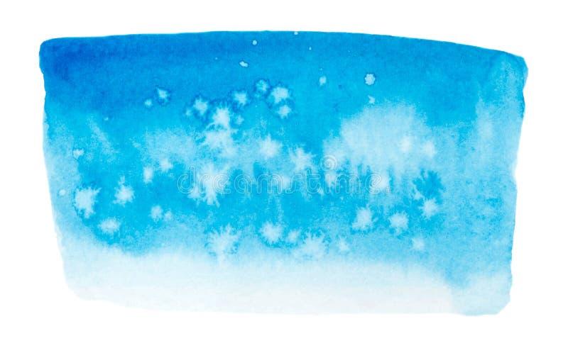 Struttura blu della pittura di vettore isolata sull'insegna bianco- dell'acquerello per la vostra progettazione illustrazione vettoriale