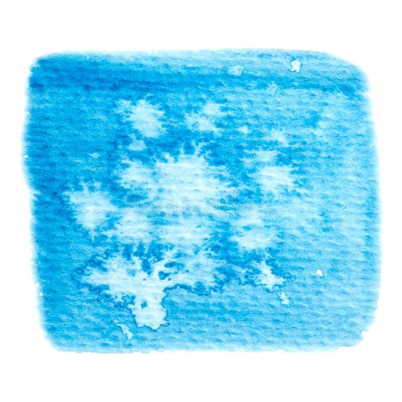 Struttura blu della pittura di vettore isolata sull'insegna bianco- dell'acquerello per la vostra progettazione royalty illustrazione gratis