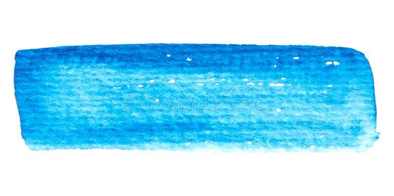Struttura blu della pittura di vettore isolata sull'insegna orizzontale dell'acquerello bianco- per la vostra progettazione illustrazione vettoriale
