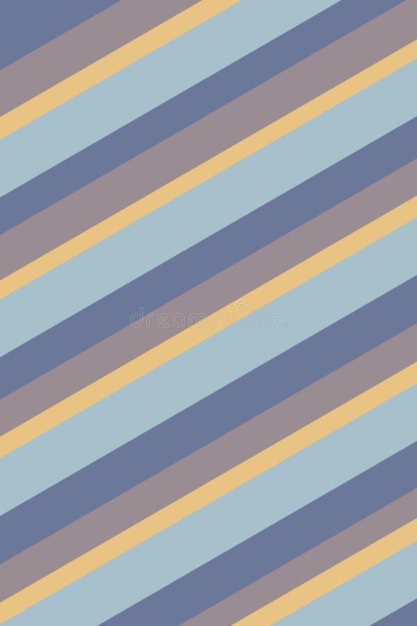 Struttura blu gialla a strisce del fondo illustrazione vettoriale