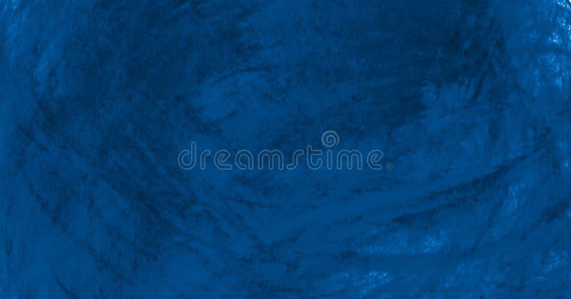 Struttura blu scuro dell'acquerello con i colpi lacerati e le bande Fondo astratto per progettazione, le disposizioni ed i modell royalty illustrazione gratis