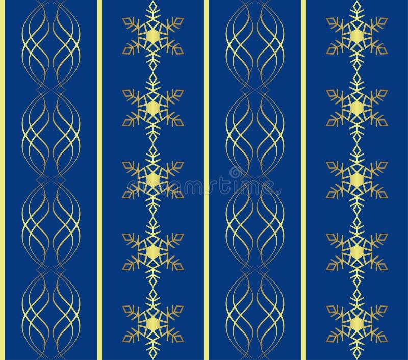 Struttura blu scuro di natale con i fiocchi di neve illustrazione vettoriale