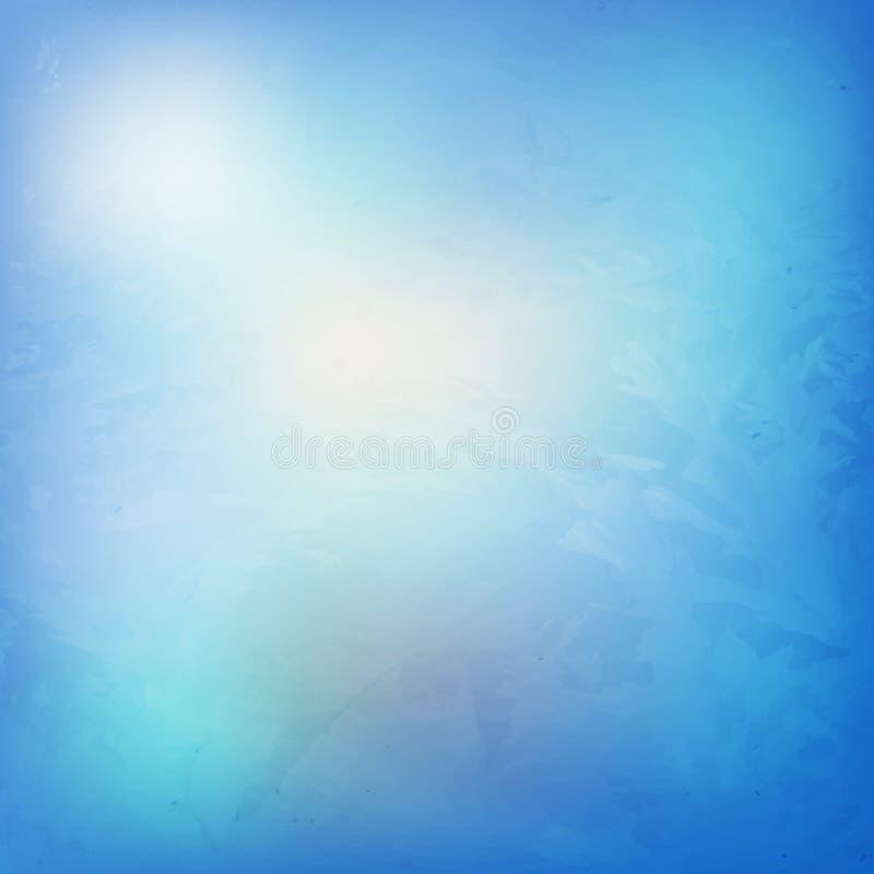 Struttura brillante blu Ghiaccio e fondo luminoso di inverno del gelo L illustrazione vettoriale