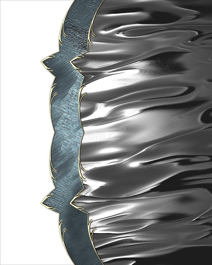 Struttura brillante del metallo Elemento per progettazione Mascherina per il disegno copi lo spazio per l'opuscolo dell'annuncio  illustrazione di stock