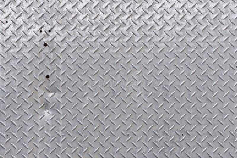 Struttura brillante della griglia del pavimento del metallo fotografia stock