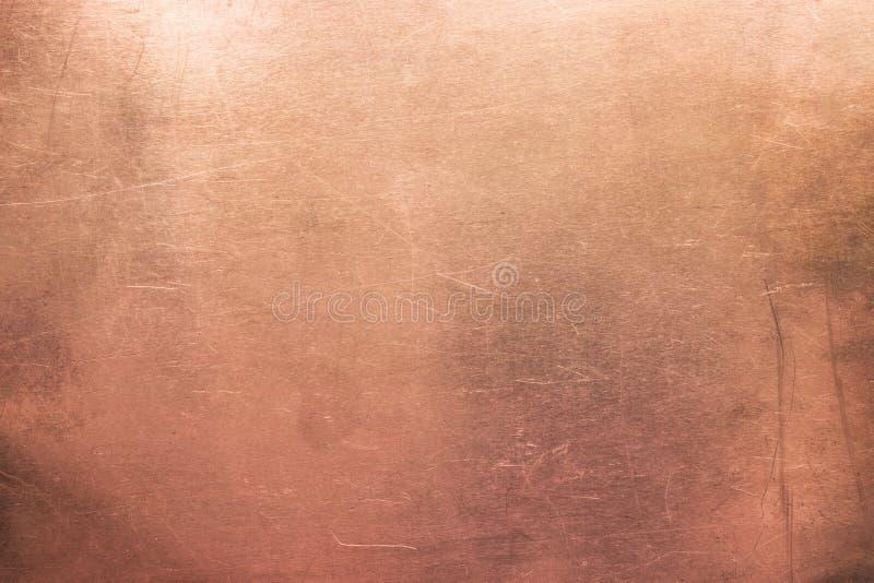 Struttura bronzea dell'annata, fondo di vecchio di piastra metallica immagini stock libere da diritti
