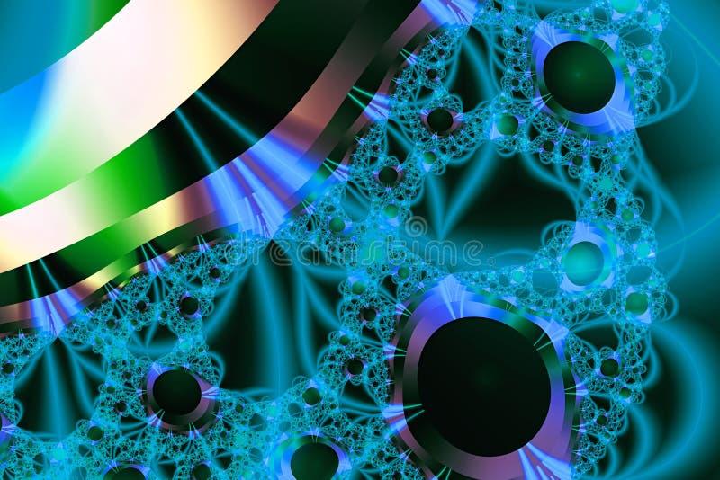 Struttura caotica variopinta di frattale di fantasia modello dell'illustrazione della rappresentazione 3D illustrazione di stock