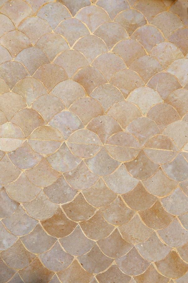 Struttura ceramica del fondo della parete del modello del mosaico a forma di ventaglio immagine stock