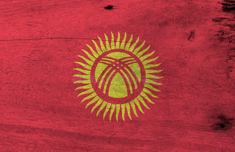 Struttura chirghisa della bandiera di lerciume, campo rosso con un sole giallo con quaranta raggi uniformemente spaziati illustrazione di stock
