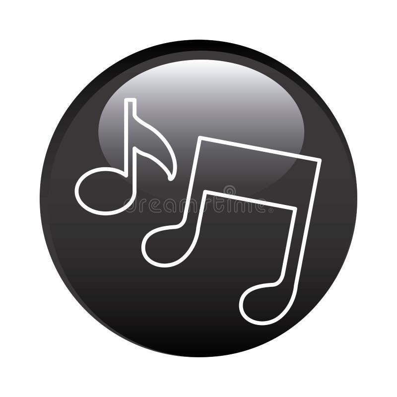 struttura circolare nera con le note musicali illustrazione di stock