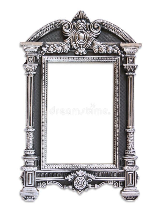 Struttura classica antica d'annata Isolato su bianco fotografia stock