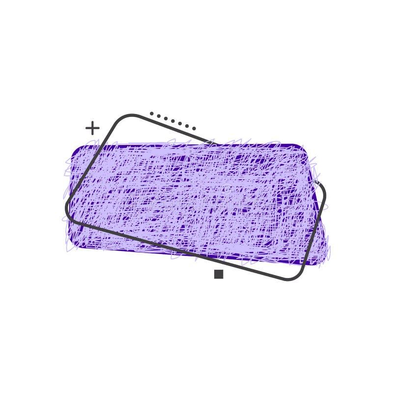 Struttura colorata 90s di schizzo di scarabocchio di lerciume di vettore illustrazione di stock