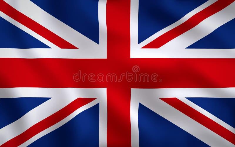 Struttura completa di immagine BRITANNICA della bandiera illustrazione di stock