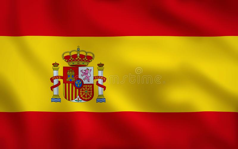 Struttura completa di immagine della bandiera della Spagna illustrazione vettoriale