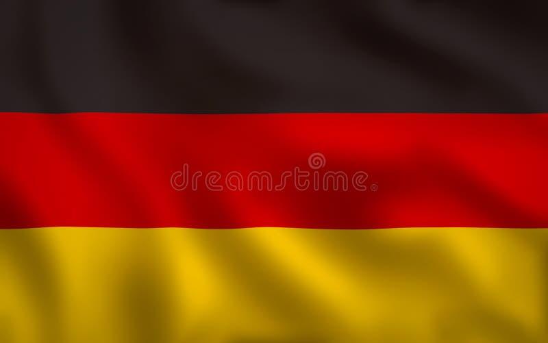 Struttura completa di immagine tedesca della bandiera royalty illustrazione gratis