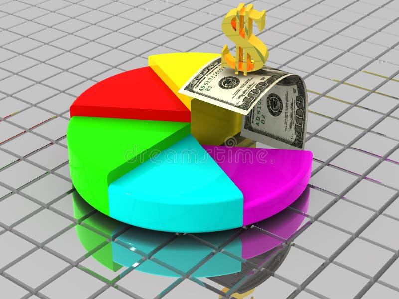Struttura con il dollaro illustrazione di stock