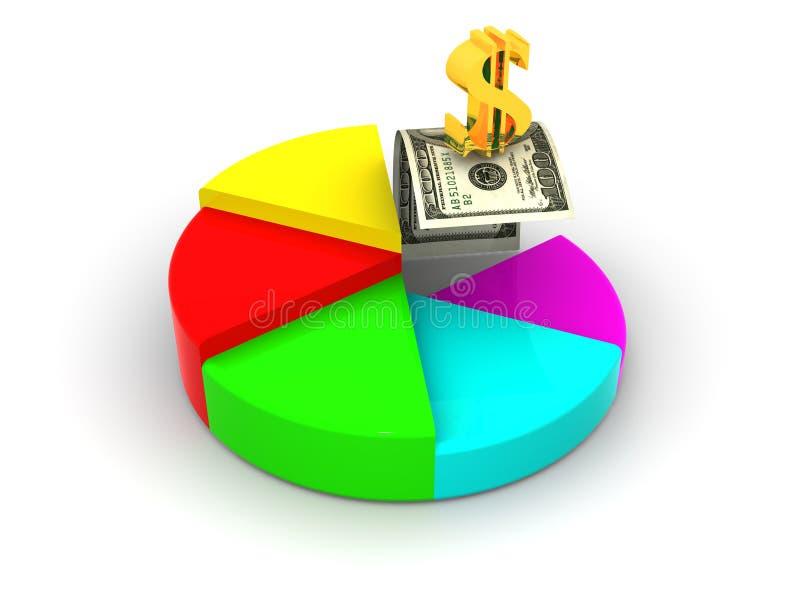 Struttura con il dollaro illustrazione vettoriale