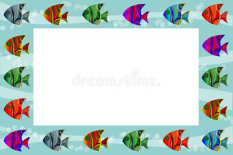 struttura con il pesce modellato fotografia stock libera da diritti