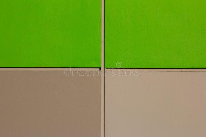 Struttura concreta del cemento del pavimento di Brown e di verde immagini stock libere da diritti